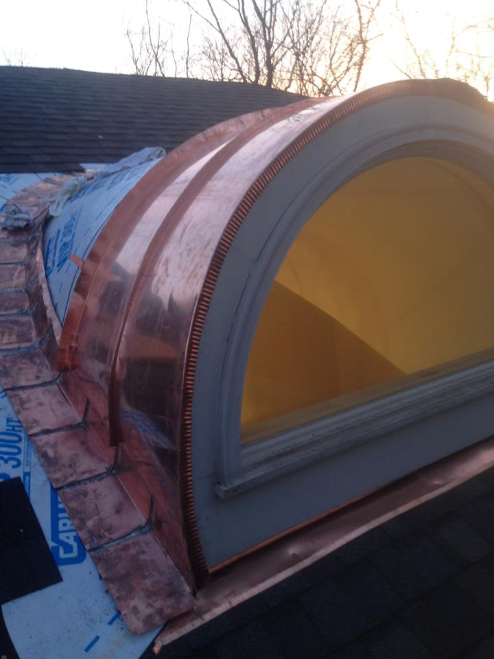 Curved Copper Dormer Hkc
