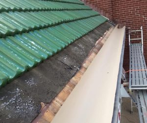 Box Gutter Restoration On 80 Year Old Ludowici French Tile
