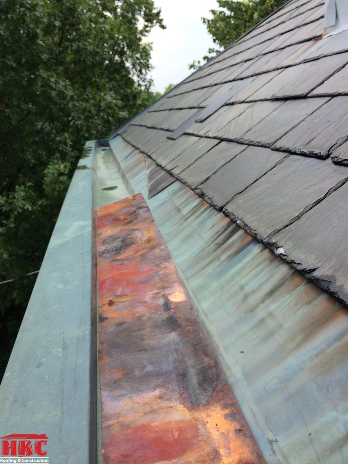 Slate Copper Box Gutter Restoration Hkc