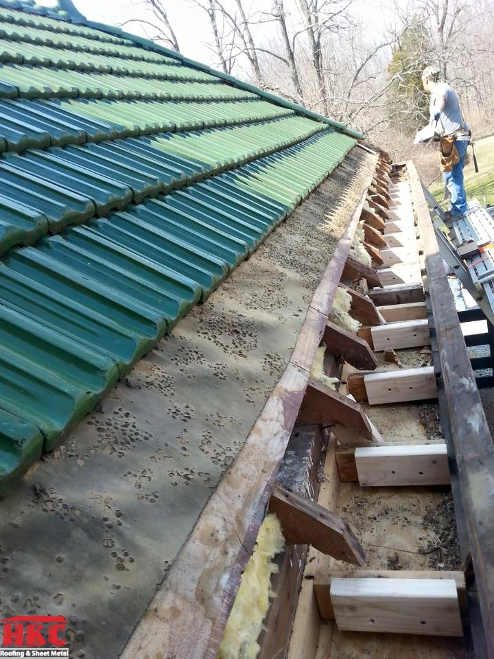 Box Gutter Restoration On 80 Year Old Ludowici French Tile Roof Hkc