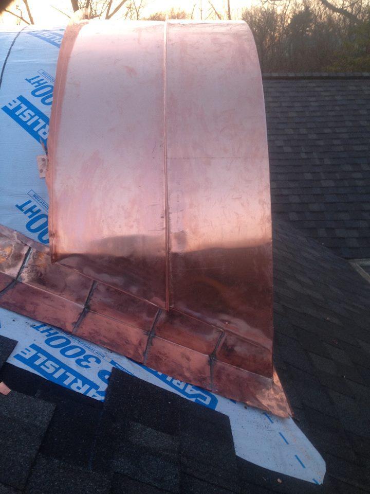 Curved Copper Dormer Hkc