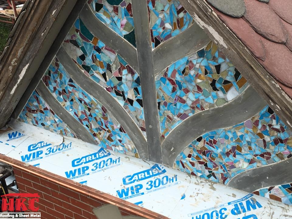 Installing 125 Year Old Stained Glass Mosaic Hkc