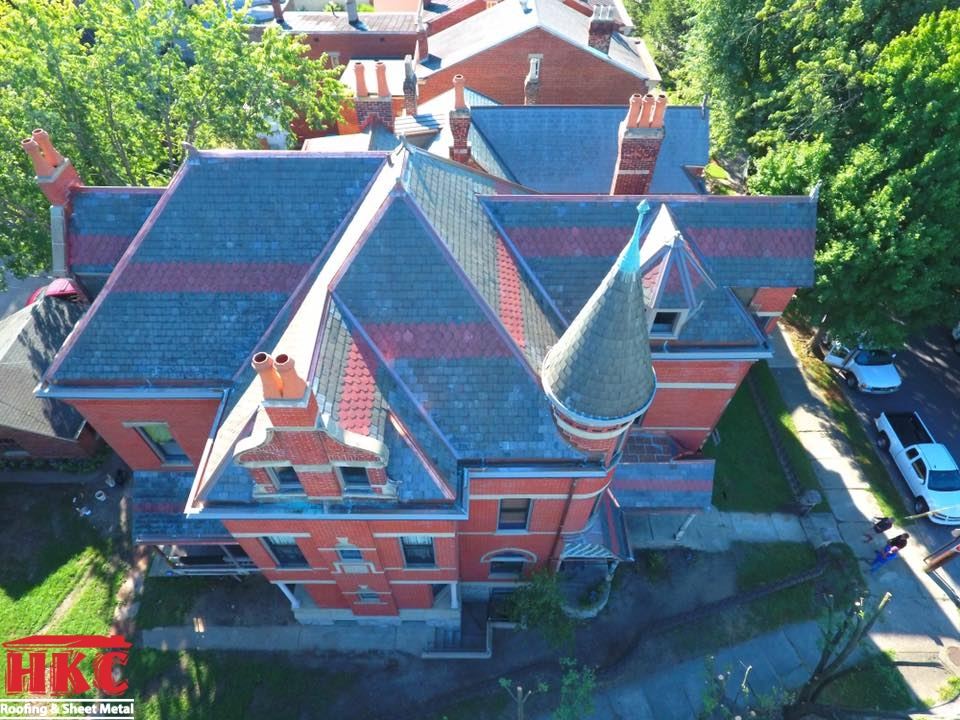 Slate Restoration Project In Northern Ky By Hkc Roofing