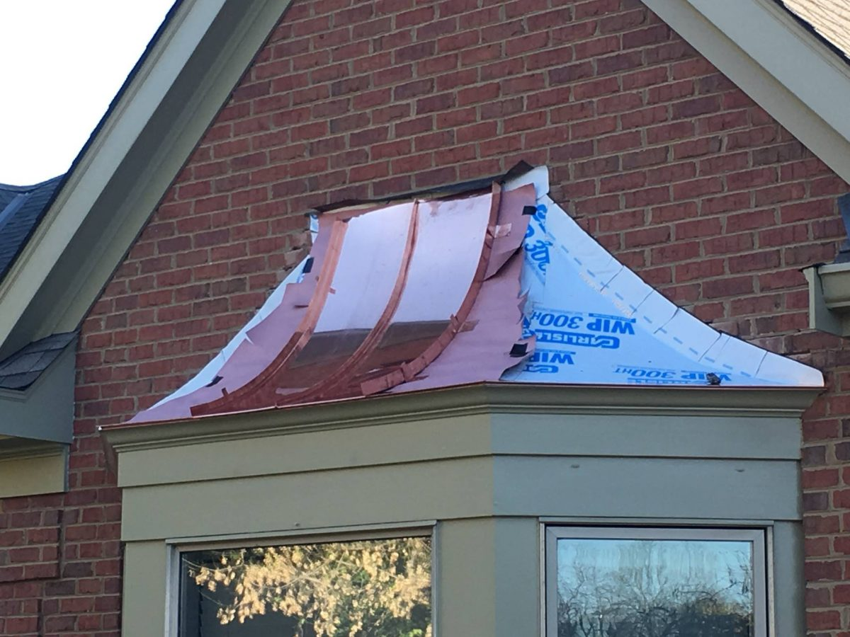 Hkc Roofing Copper Bay Window Hail Damage